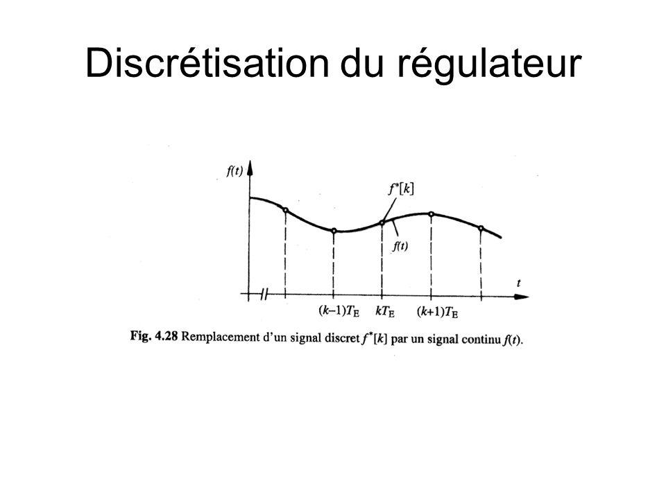 Discrétisation du régulateur