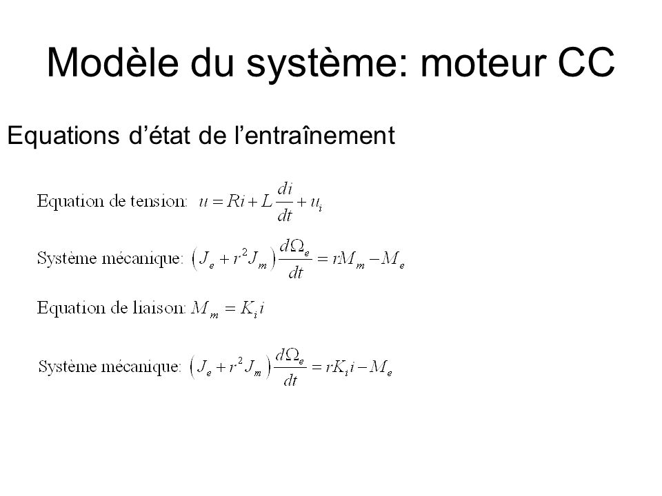 Dimensionnement du régulateur Méthodes: -Tournevis -Ziegler Nichols (Prof.