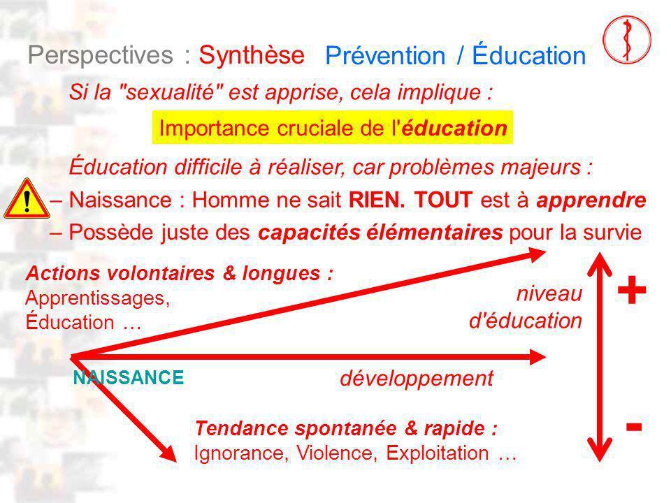 D112 : Modèles : Homme 23 : Clinique 4 Perspectives : Synthèse Si la sexualité est apprise, cela implique : Importance cruciale de l éducation – Naissance : Homme ne sait RIEN.