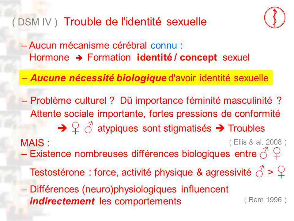 D114 : Modèles : Homme 23 : Clinique 2 ( DSM IV ) Trouble de l identité sexuelle – Aucune nécessité biologique d avoir identité sexuelle – Problème culturel .