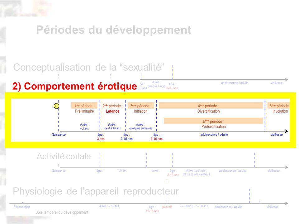 D66 : Modèles : Homme 20 : Développement & Dynamique 4 Physiologie de lappareil reproducteur Activité coïtale Conceptualisation de la sexualité Périodes du développement 2) Comportement érotique