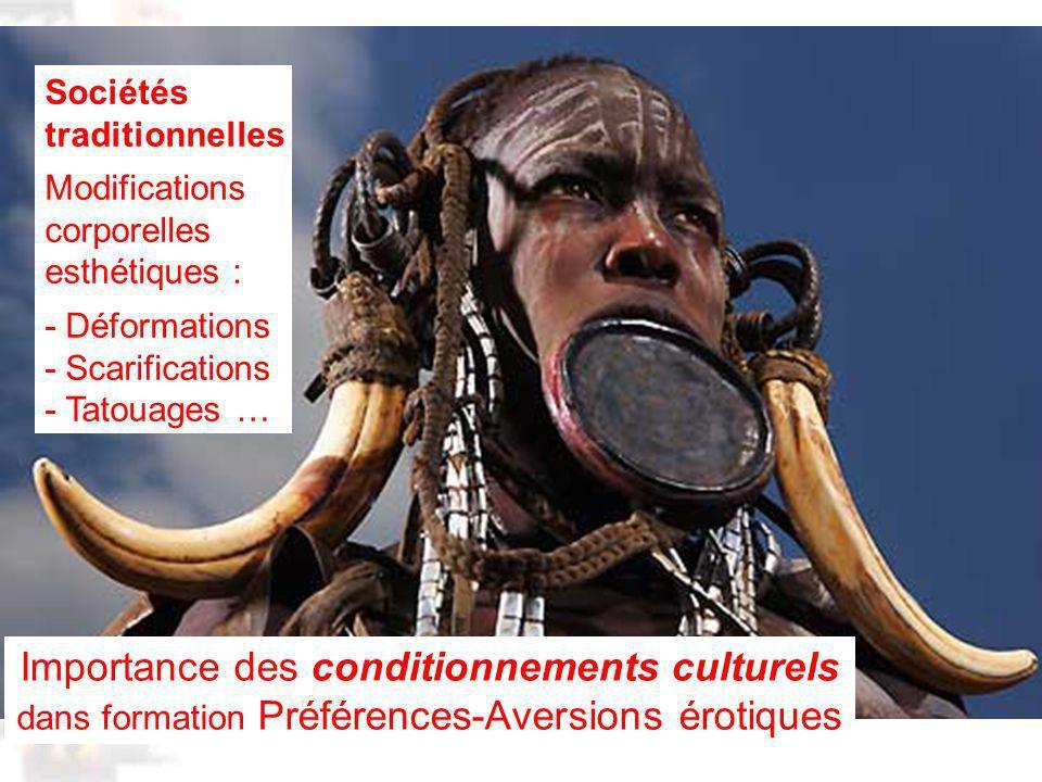 D80 : Modèles : Homme 20 : Développement & Dynamique 8 Importance des conditionnements culturels dans formation Préférences-Aversions érotiques Sociétés traditionnelles Modifications corporelles esthétiques : - Déformations - Scarifications - Tatouages …