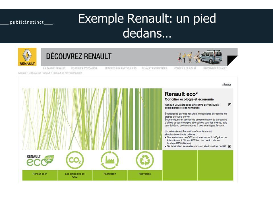 Exemple Renault: un pied dedans…