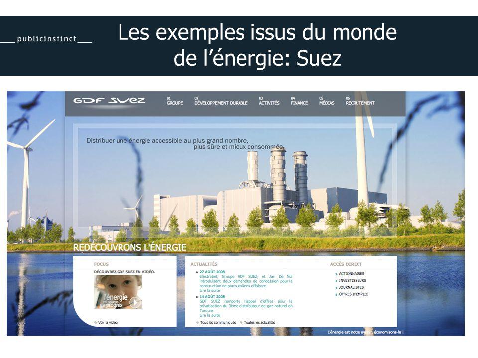 Les exemples issus du monde de lénergie: Suez