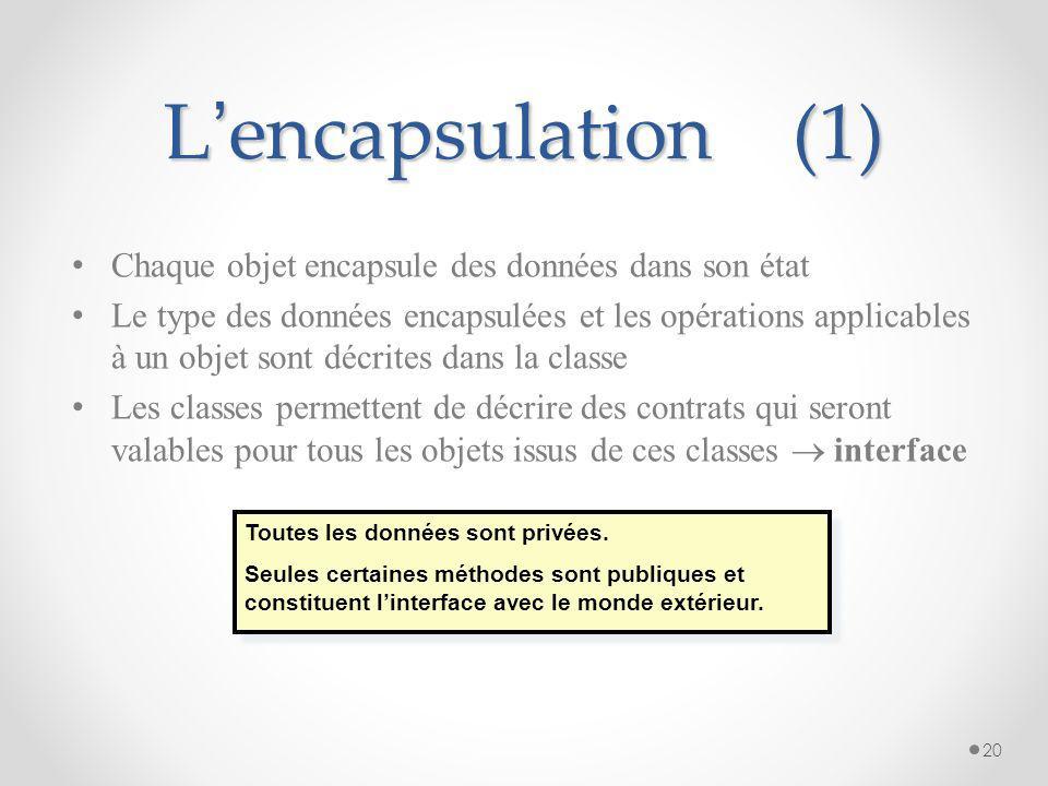 Les classes - définitions 19 Les objets ayant la même structure de données (attributs) et le même comportement (opérations) sont regroupés en une clas