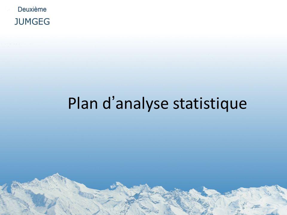 Plan danalyse statistique