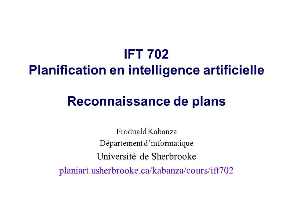 © Froduald KabanzaIFT7022 Plan de lexposé l Énoncé du problème l Quelques approches
