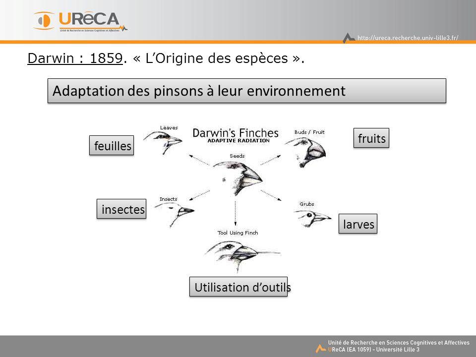 Darwin : 1859.« LOrigine des espèces ».