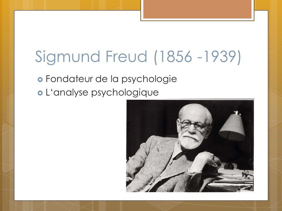 Sigmund Freud (1856 -1939) Fondateur de la psychologie Lanalyse psychologique