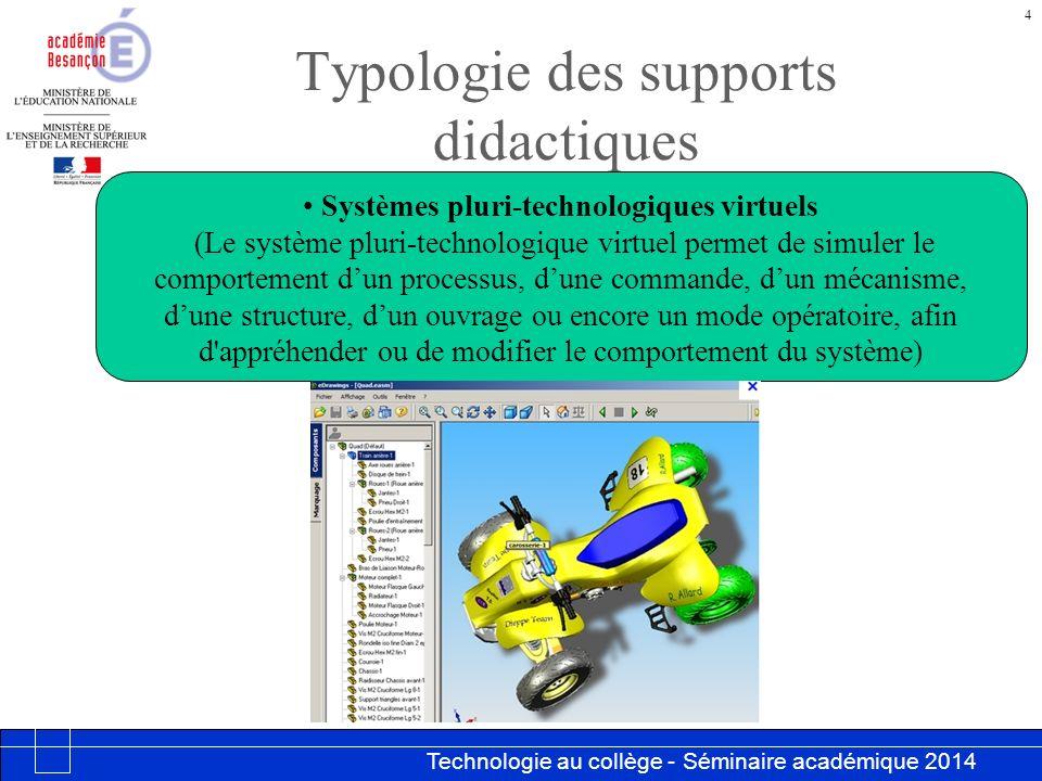 Technologie au collège - Séminaire académique 2014 Académie de Besançon 15 Programmer
