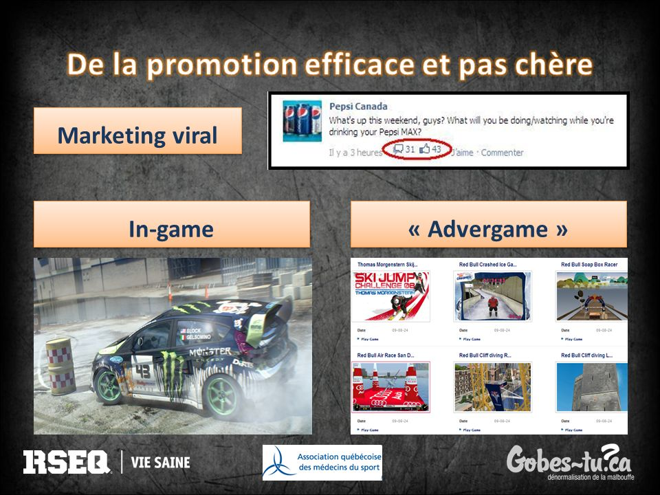 Marketing viral « Advergame » In-game