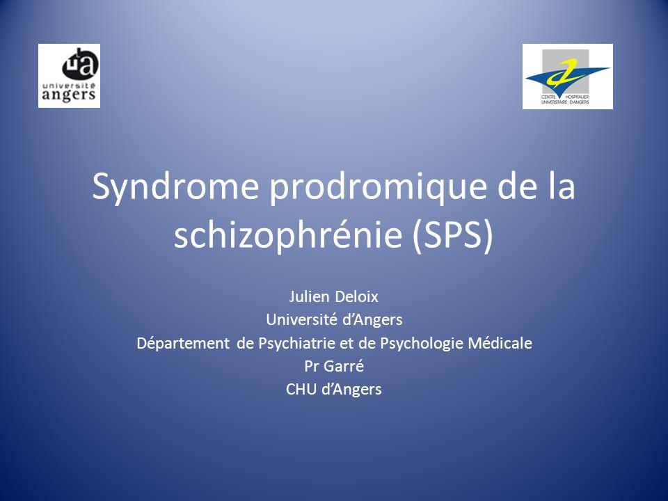 Plan Modes de début de la schizophrénie Le syndrome prodromique Adolescence/diagnostics différentiels/ comorbidités Modèles explicatifs Prévention Conclusion
