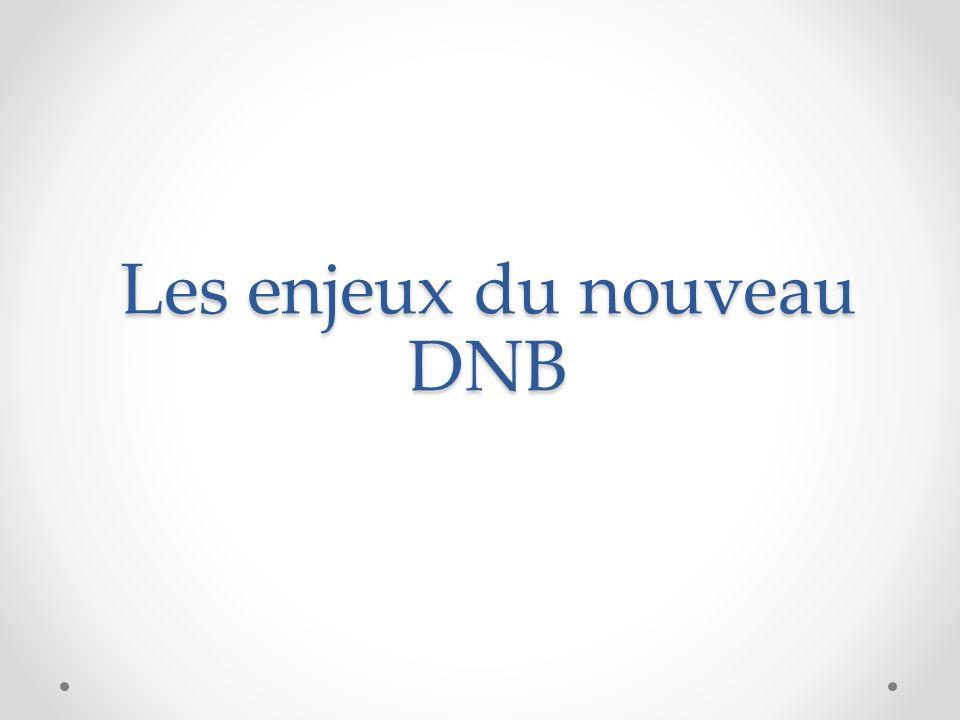 Les enjeux du nouveau DNB