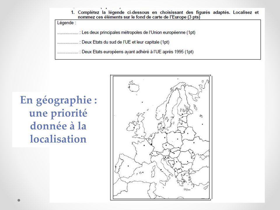 En géographie : une priorité donnée à la localisation