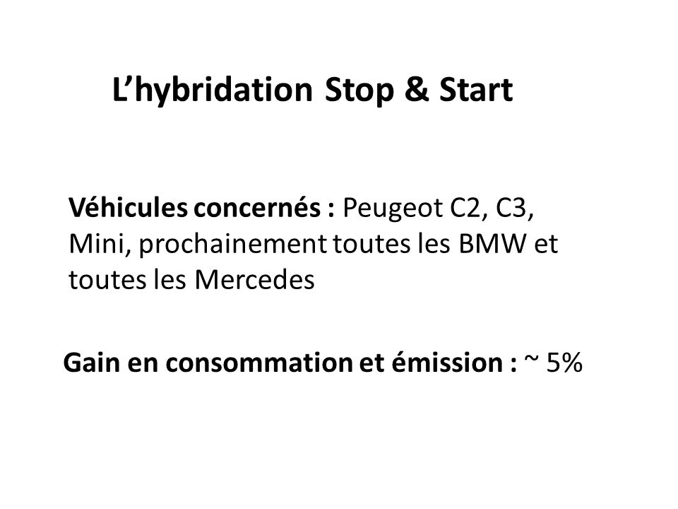 La voiture Hybride : Lhybridation parallèle