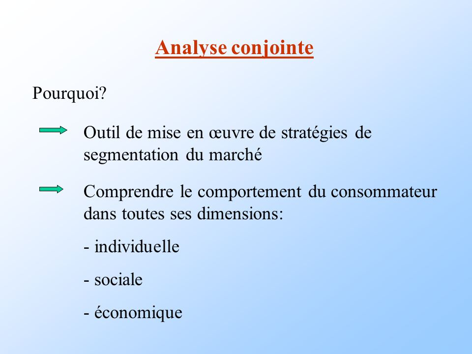 Analyse conjointe Comment.