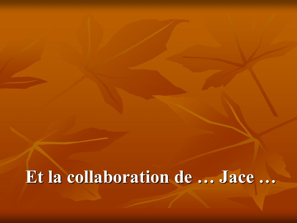 Et la collaboration de … Jace …