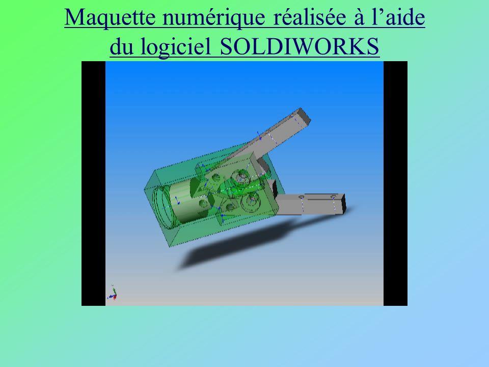 Maquette numérique réalisée à laide du logiciel SOLDIWORKS