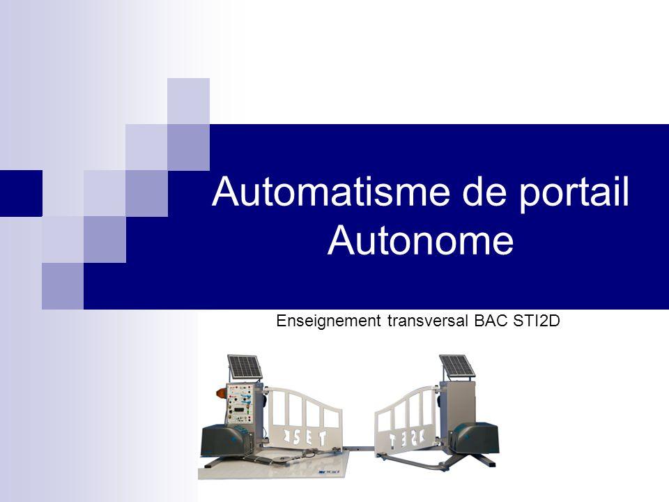 Automatisme de portail Autonome Enseignement transversal BAC STI2D