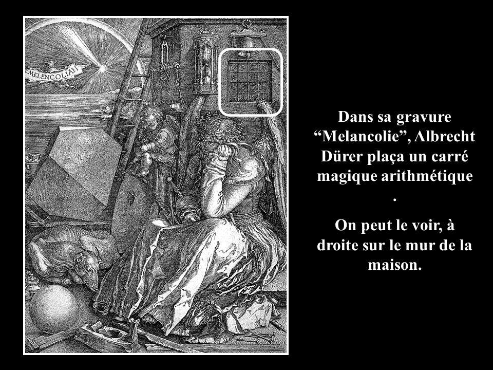 Albrecht Dürer (1471-1528) est considéré comme lartiste le plus fameux dAllemagne. En 1514 il realisa une gravure du nom de