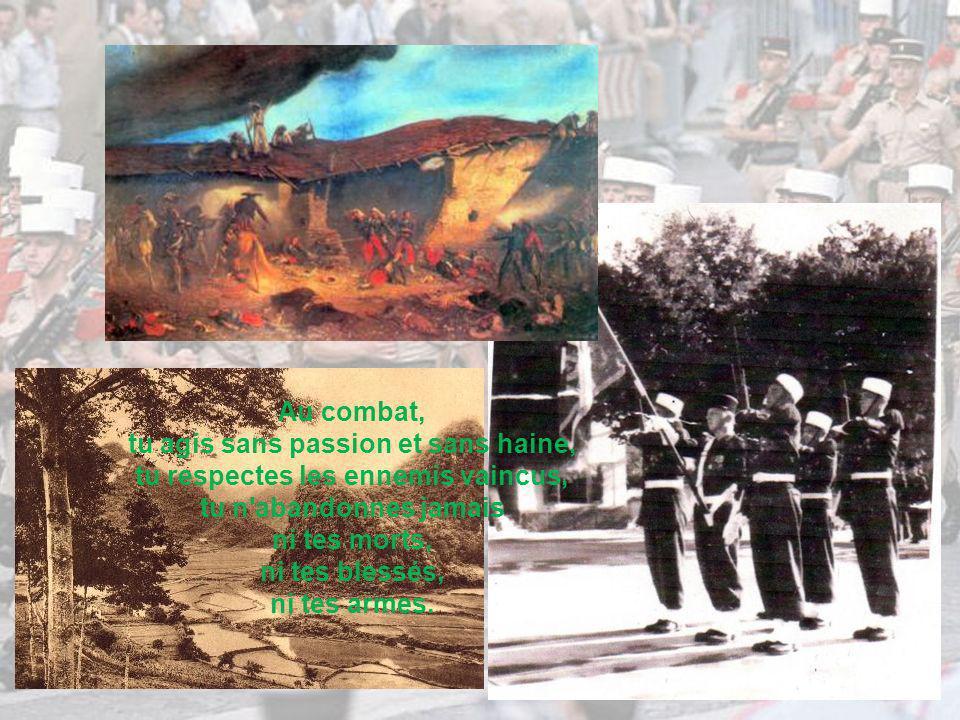 La mission est sacrée, tu l exécutes jusqu au bout dans le respect des lois, des coutumes de la guerre et des conventions internationales et si besoin, au péril de ta vie