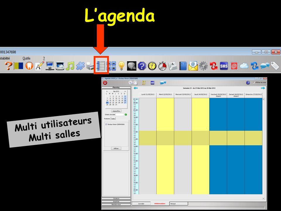 Agenda Mini agenda Fonctionnement similaire Tous les paramètres définis dans l agenda s appliquent au mini agenda