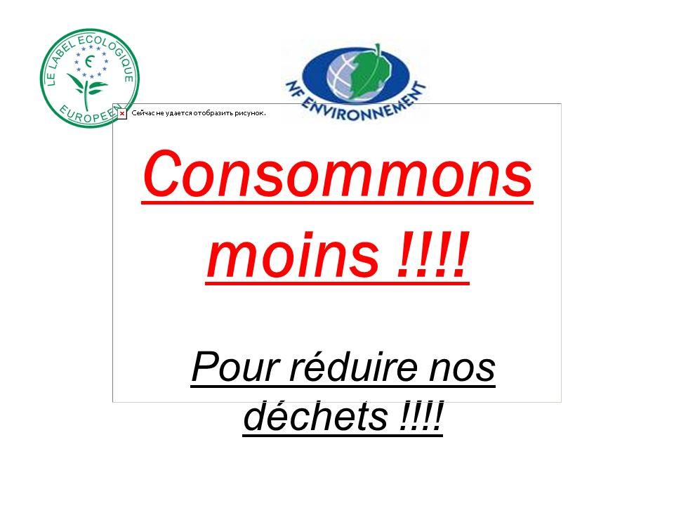 Consommons moins !!!! Pour réduire nos déchets !!!!