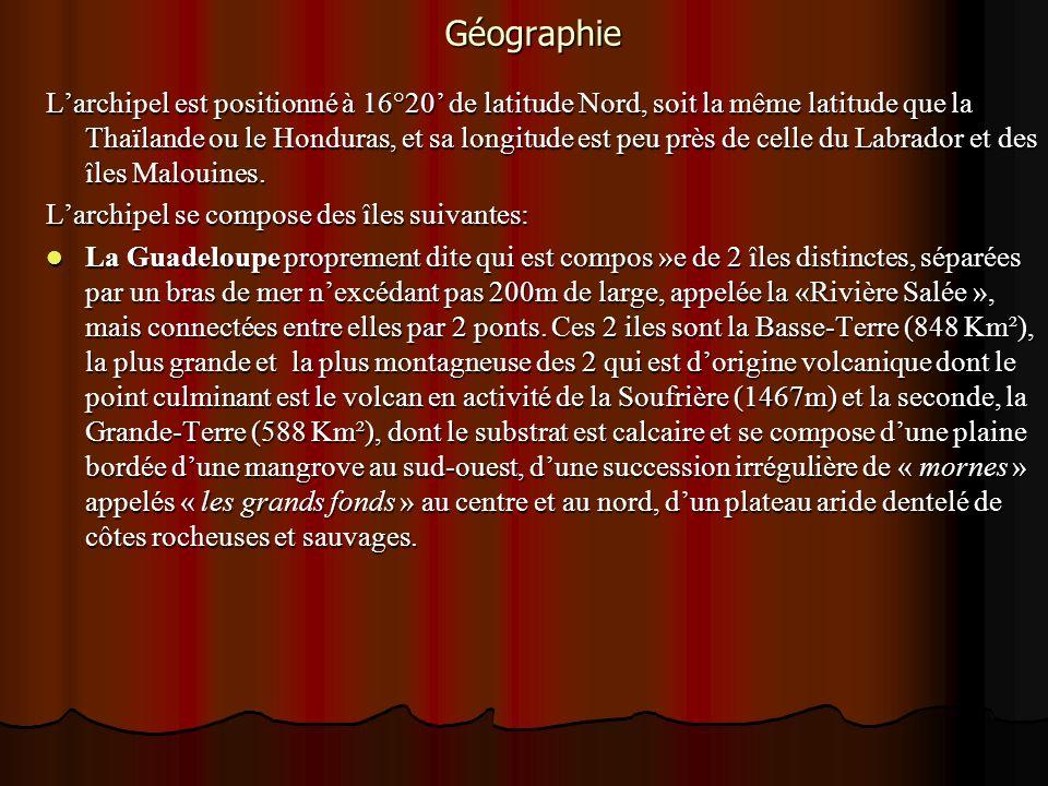 Géographie Larchipel est positionné à 16°20 de latitude Nord, soit la même latitude que la Thaïlande ou le Honduras, et sa longitude est peu près de c