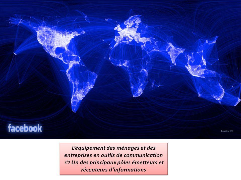 Léquipement des ménages et des entreprises en outils de communication Un des principaux pôles émetteurs et récepteurs dinformations