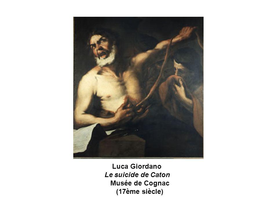Luca Giordano Le suicide de Caton Musée de Cognac (17ème siècle)