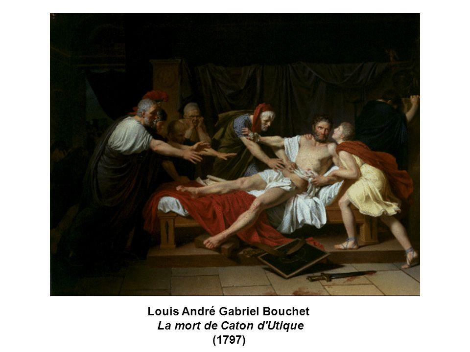 Louis André Gabriel Bouchet La mort de Caton d'Utique (1797)