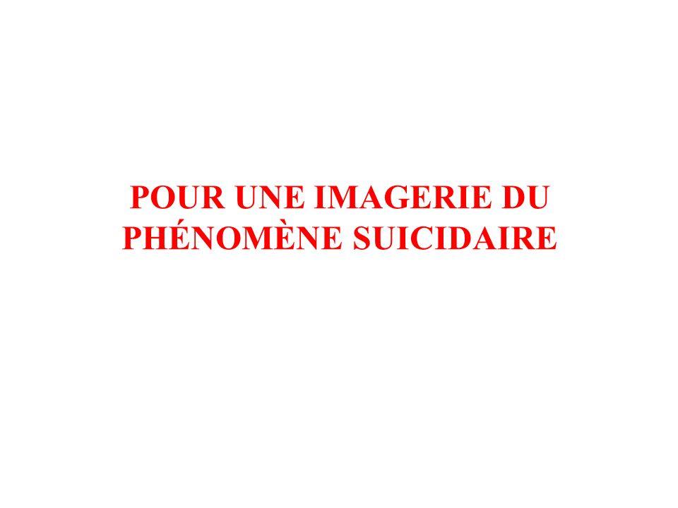 DEUX TYPES DIMAGES ET DEUX TYPES DE SUICIDES DANS LA CULTURE OCCIDENTALE 2/ UN SUICIDE « PATHOLOGIQUE » –Un sujet dément ou aliéné ou déprimé –Désigné par sa raison défaillante aux puissances de lombre –Victime de sa folie –Féminin –Suicide nocturne –Abandonnique –Dans la dépossession de soi –Hétéronome –Passif, parfois indirect ou médiat –Des moyens présumés non violents –Seffacer, sabolir, soublier –Dans le silence et la solitude