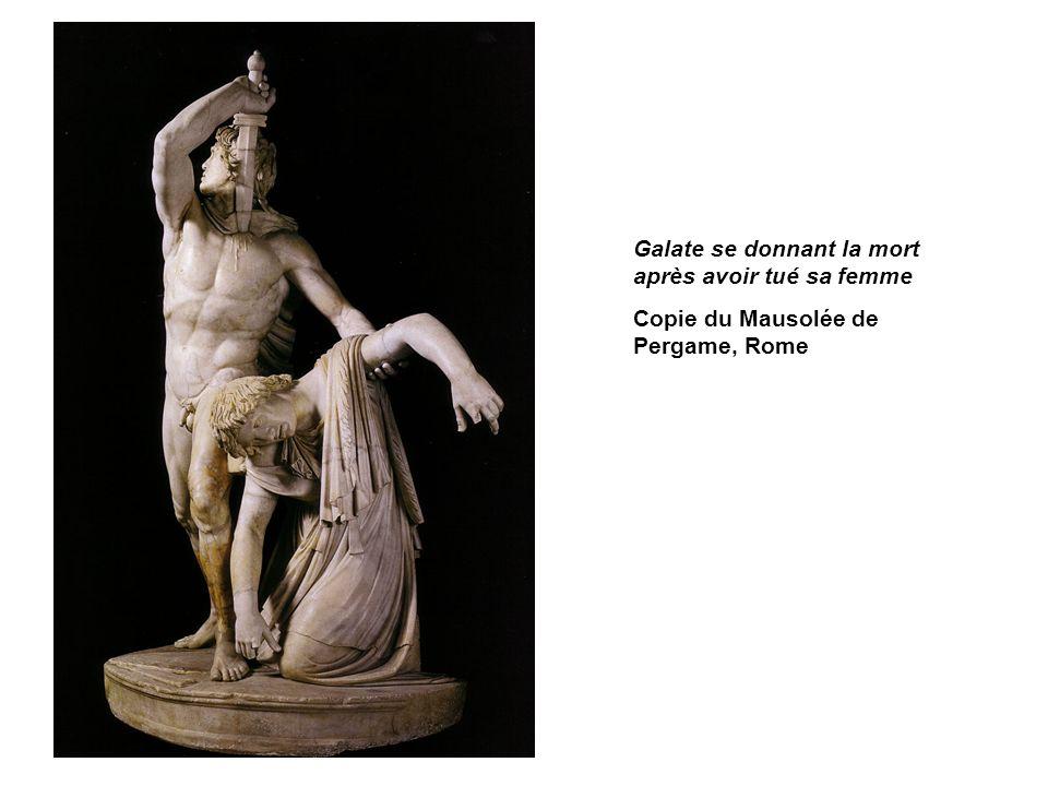 Galate se donnant la mort après avoir tué sa femme Copie du Mausolée de Pergame, Rome