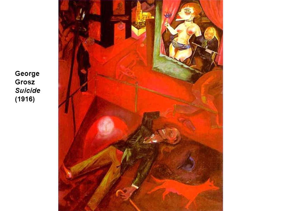 George Grosz Suicide (1916)