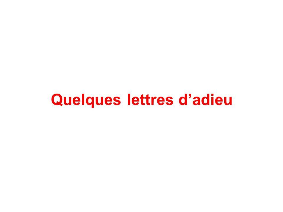 Quelques lettres dadieu