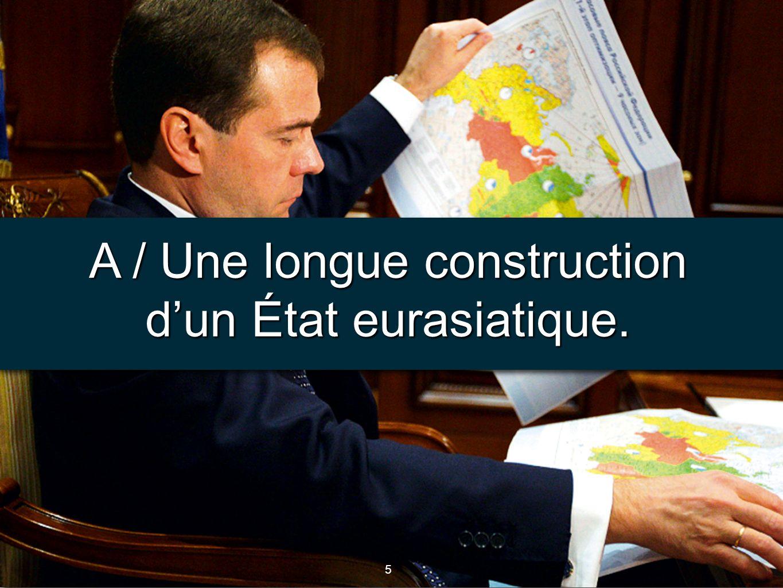 6 6 Document 2 : La construction de lÉtat russe, Durand, Atlas de la mondialisation, S. PO, 2010.