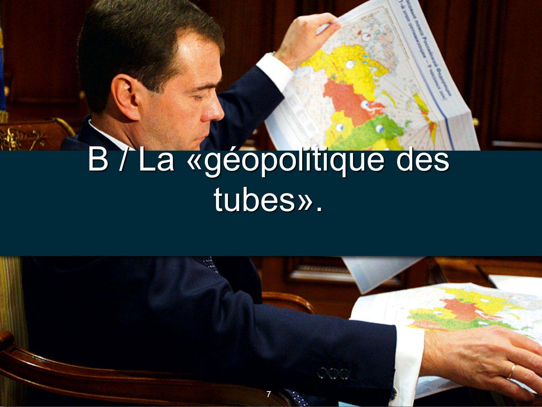 8 8 Document 3 : Tracé des conduites énergétiques, Courrier international, N°2011, 2011.