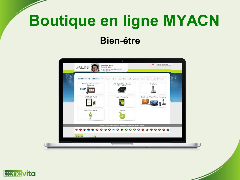 Boutique en ligne MYACN Bien-être