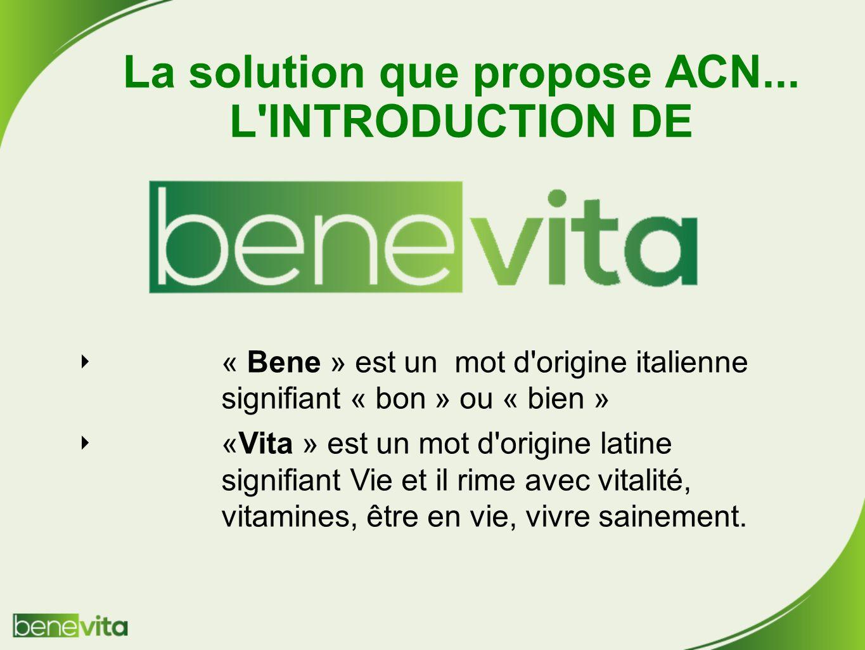 La solution que propose ACN...