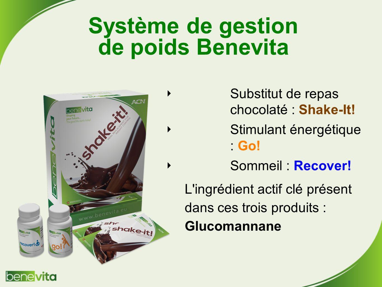 Système de gestion de poids Benevita Substitut de repas chocolaté : Shake-It.