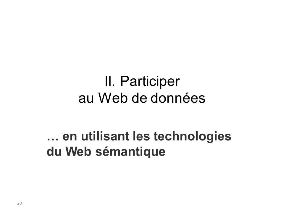 21 Architecture du Web (1) World Wide Web : toile daraignée de serveurs dinformations reliés les uns aux autres par des liens physiques (le réseau matériel) et des liens logiques (les liens hypertextes) Architecture du Web : infrastructure technologique définie par des standards Standardisation de larchitecture du Web assurée par un organisme, le W3C (World Wide Web Consortium) : accessibilité pour les logiciels et machines et accessibilité universelle aux contenus