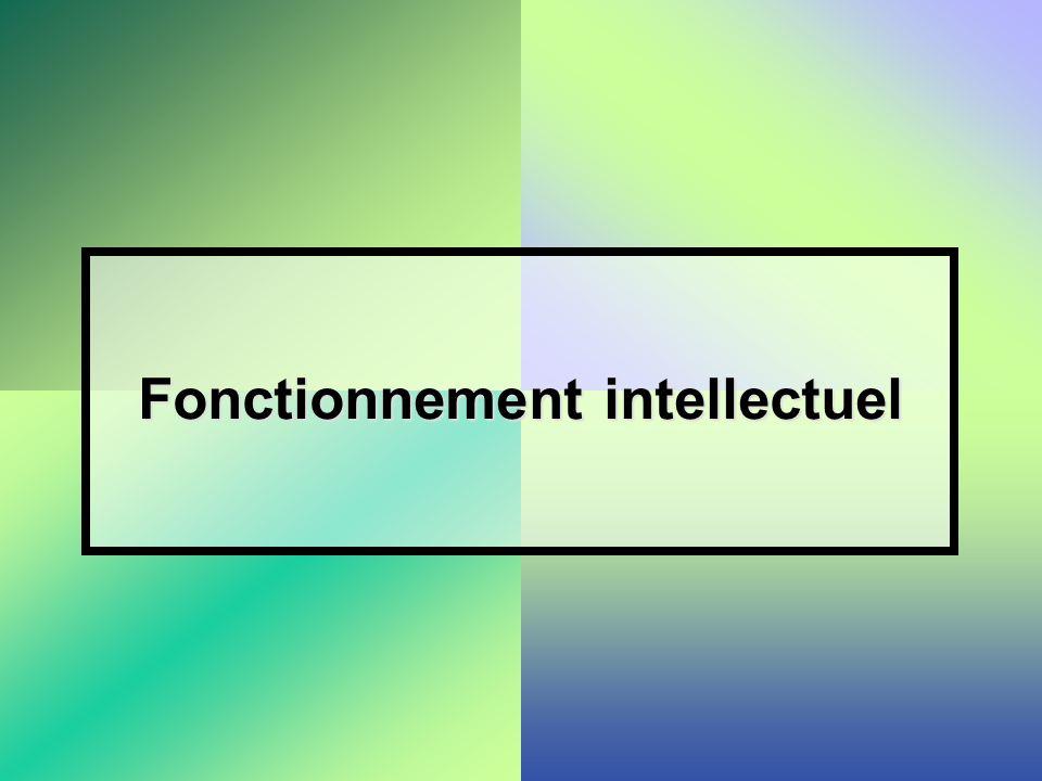 Fonctionnement intellectuel