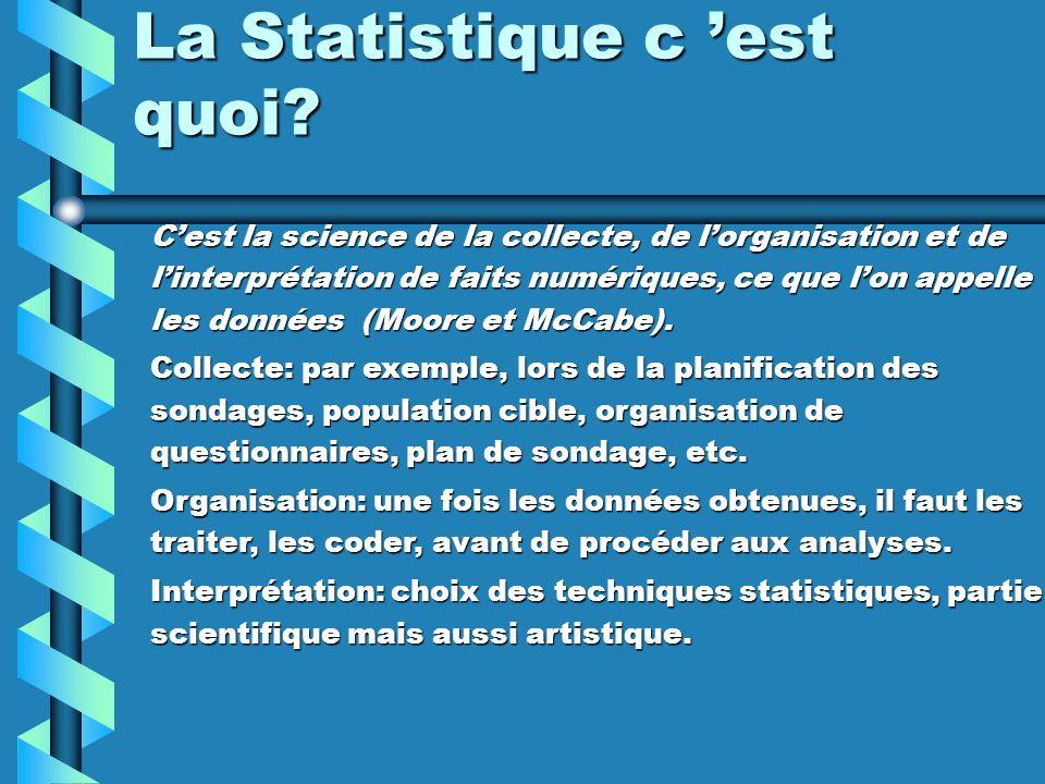 Vocabulaire de base de la statistique: Population: ensemble des personnes, objets ou éléments sur lesquels on veut effectuer l étude.Population: ensemble des personnes, objets ou éléments sur lesquels on veut effectuer l étude.