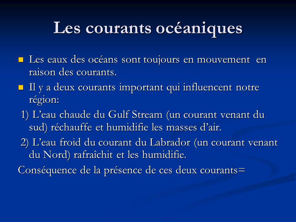 Les courants océaniques Les eaux des océans sont toujours en mouvement en raison des courants. Les eaux des océans sont toujours en mouvement en raiso