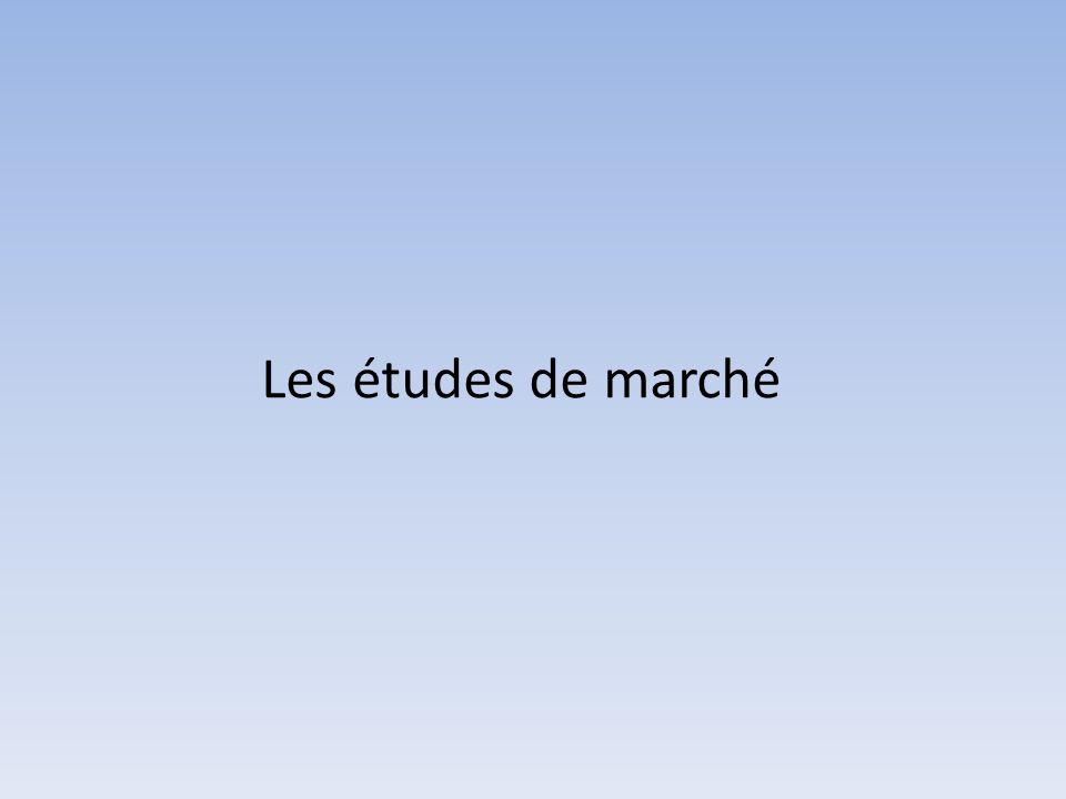 Les études de marché