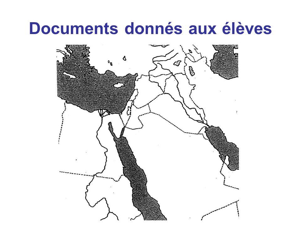 Documents donnés aux élèves