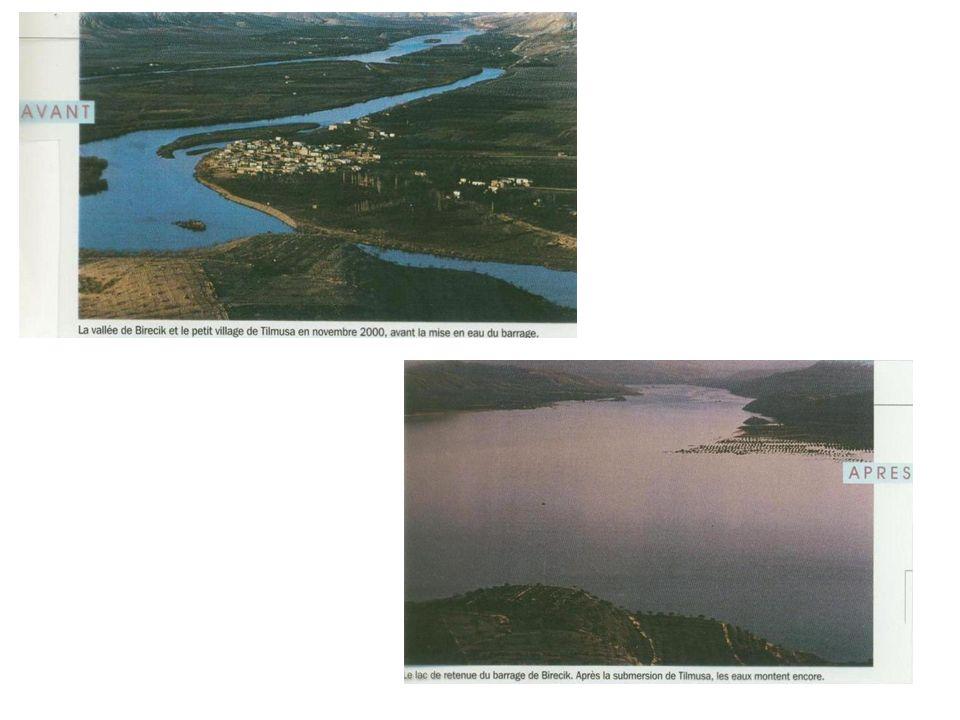 Barrages Amont et aval dun fleuve