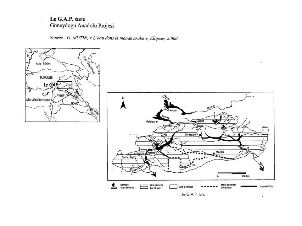 Savoirs Disponibilité en eau m³/pers/an Précipitations en mm/an Investissements Exode rural Conflit kurde