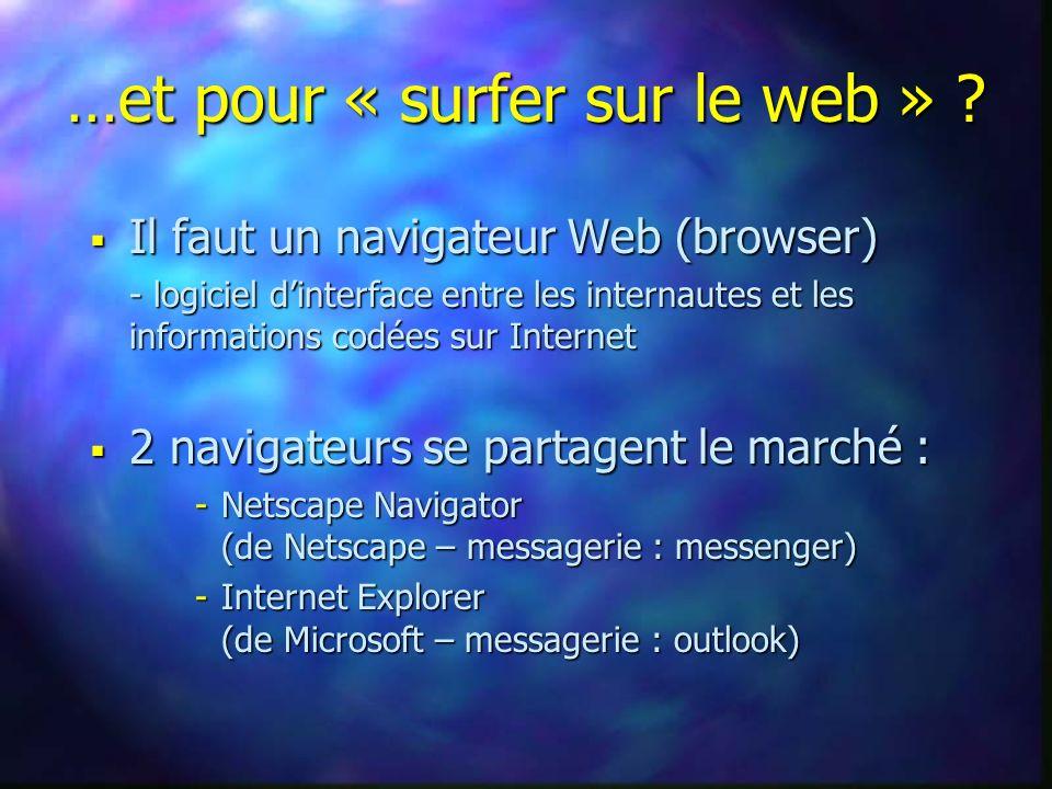 …et pour « surfer sur le web » .