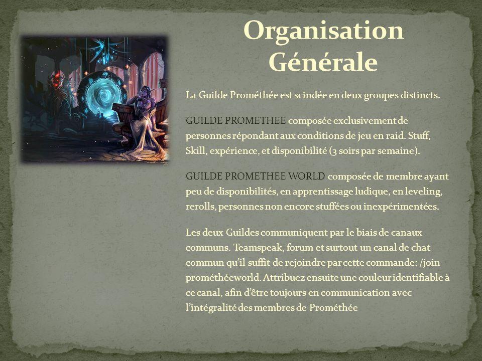 La Guilde Prométhée est scindée en deux groupes distincts.